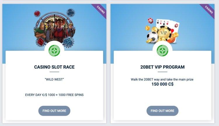 promotions 20bet casino