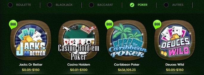 888 Casino - Poker
