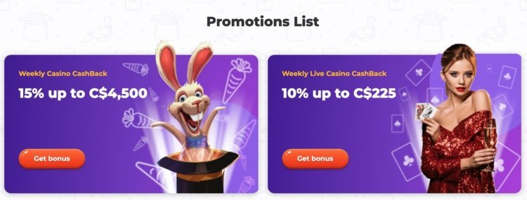 promotions de casino cadabrus
