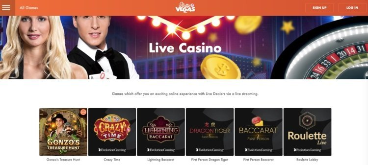 casino live slotty vegas