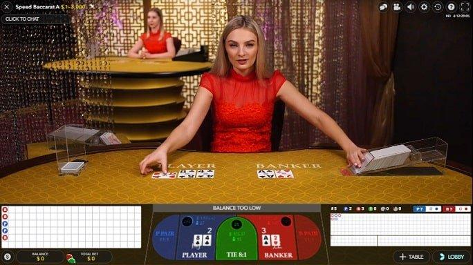 Casino live baccarat