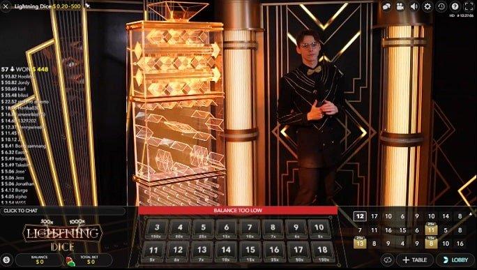 Casino live dice game