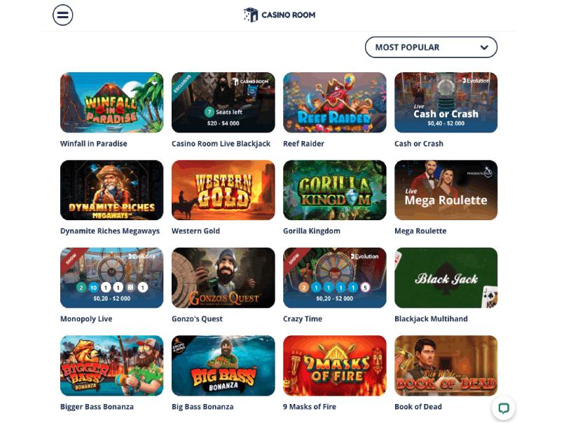 casinoroom games