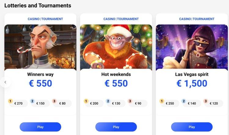 capture d'écran tournois et loteries slottica casino