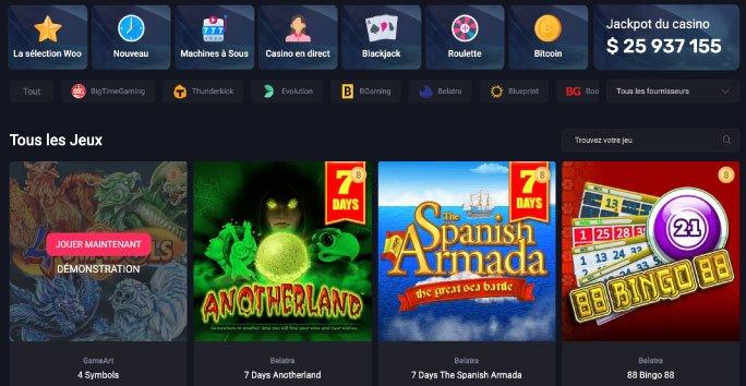 woocasino jeux de casino